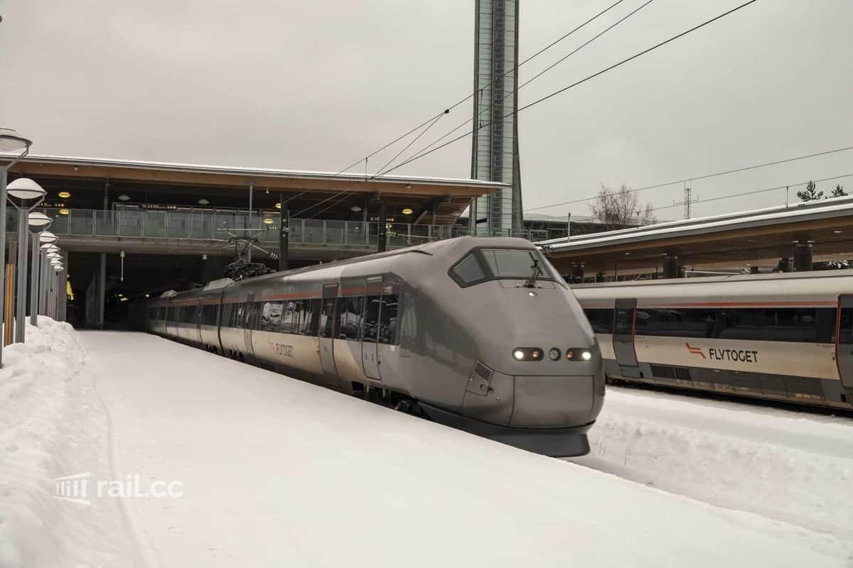Flytoget in Oslo Gardermoen