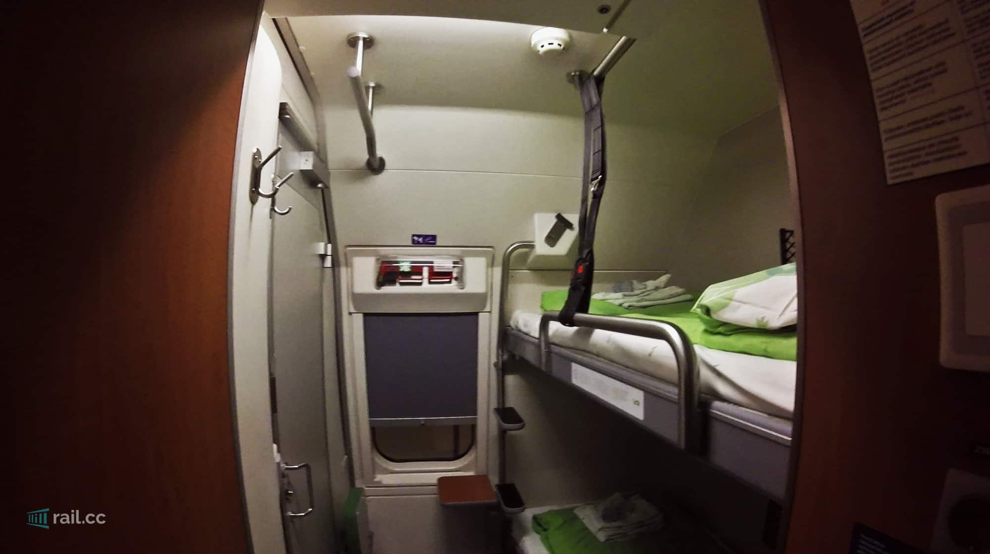 VR night train sleeper compartment