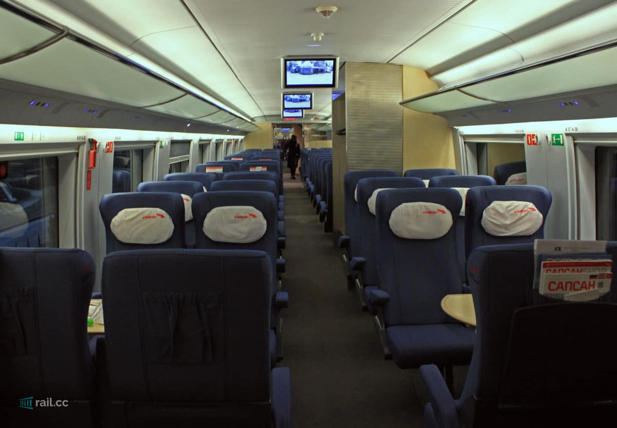 Economy class in Spasan train
