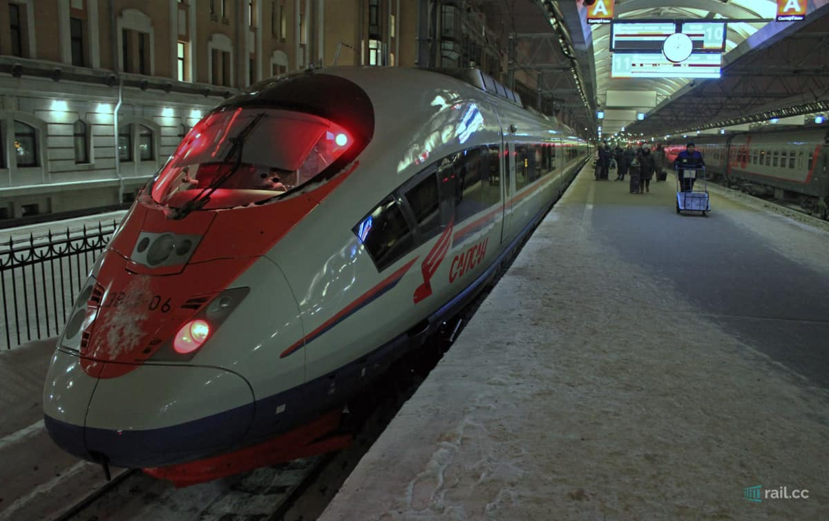 Sapsan train in Saint Petersburg