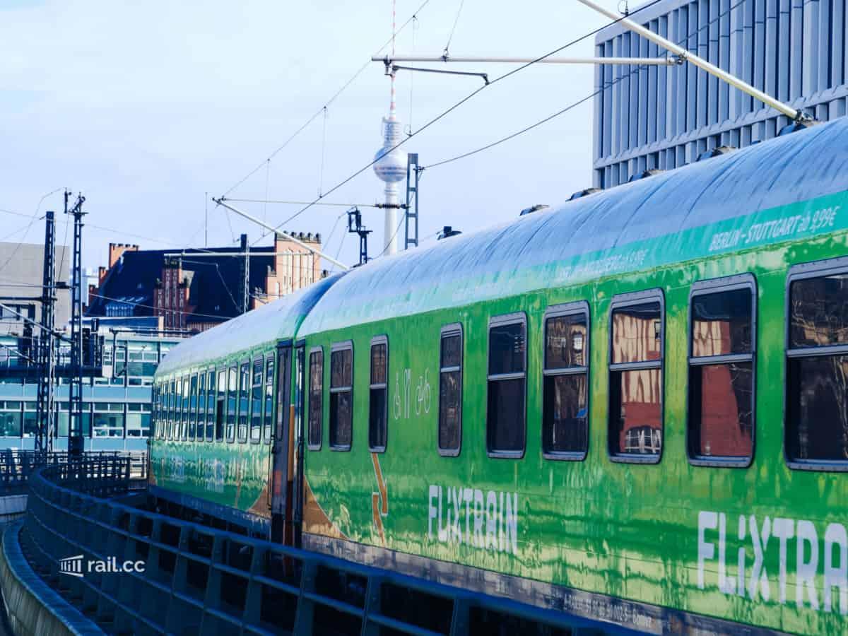 Flixtrain arrival in Berlin