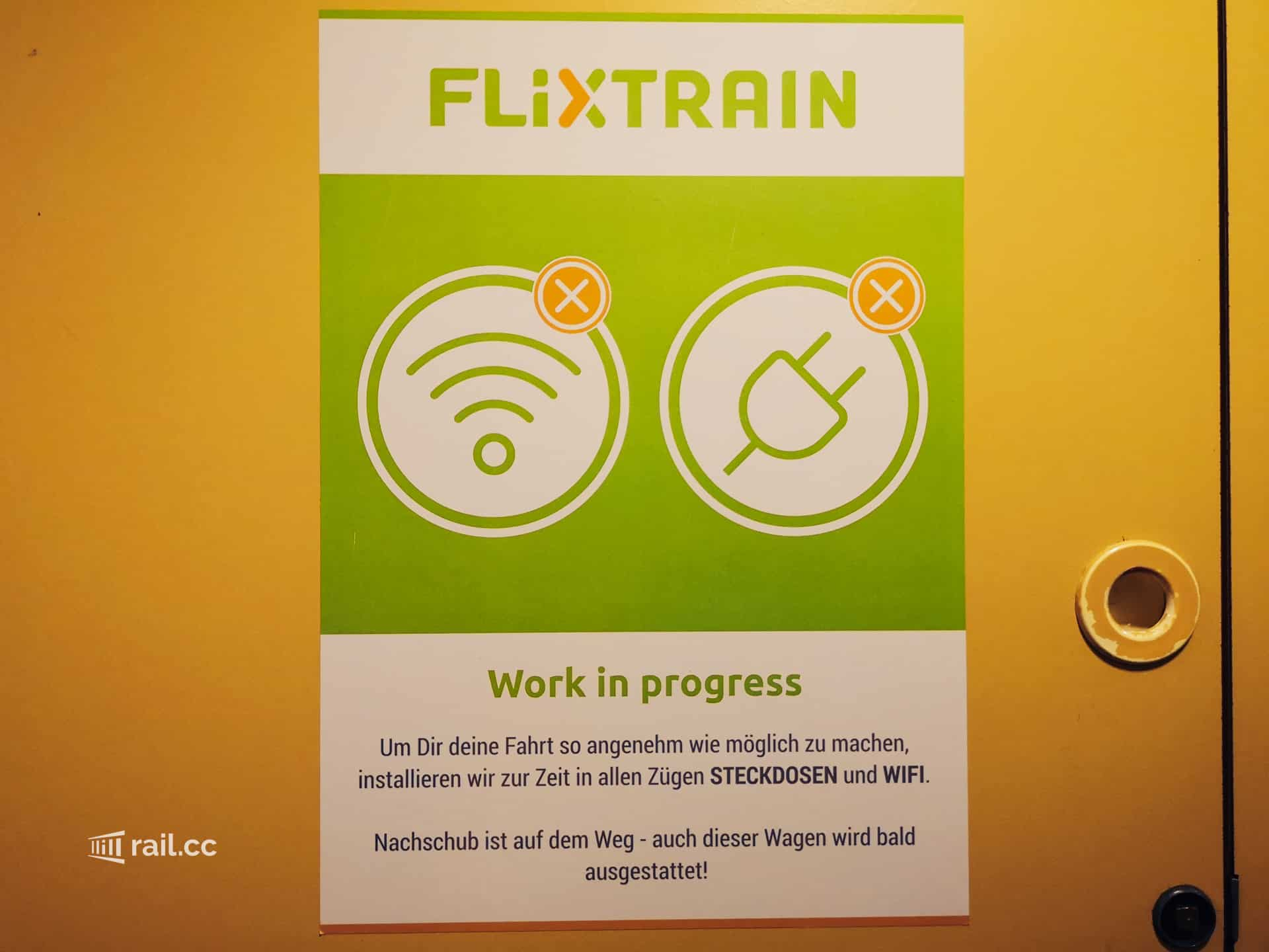 Flixtrain without wifi and electricity