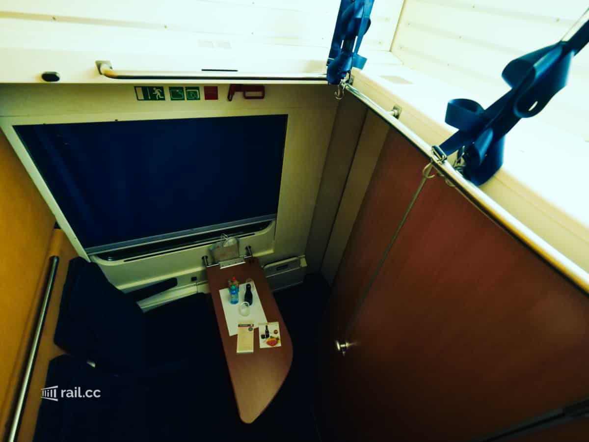 Sleeping compartment in nightjet night train
