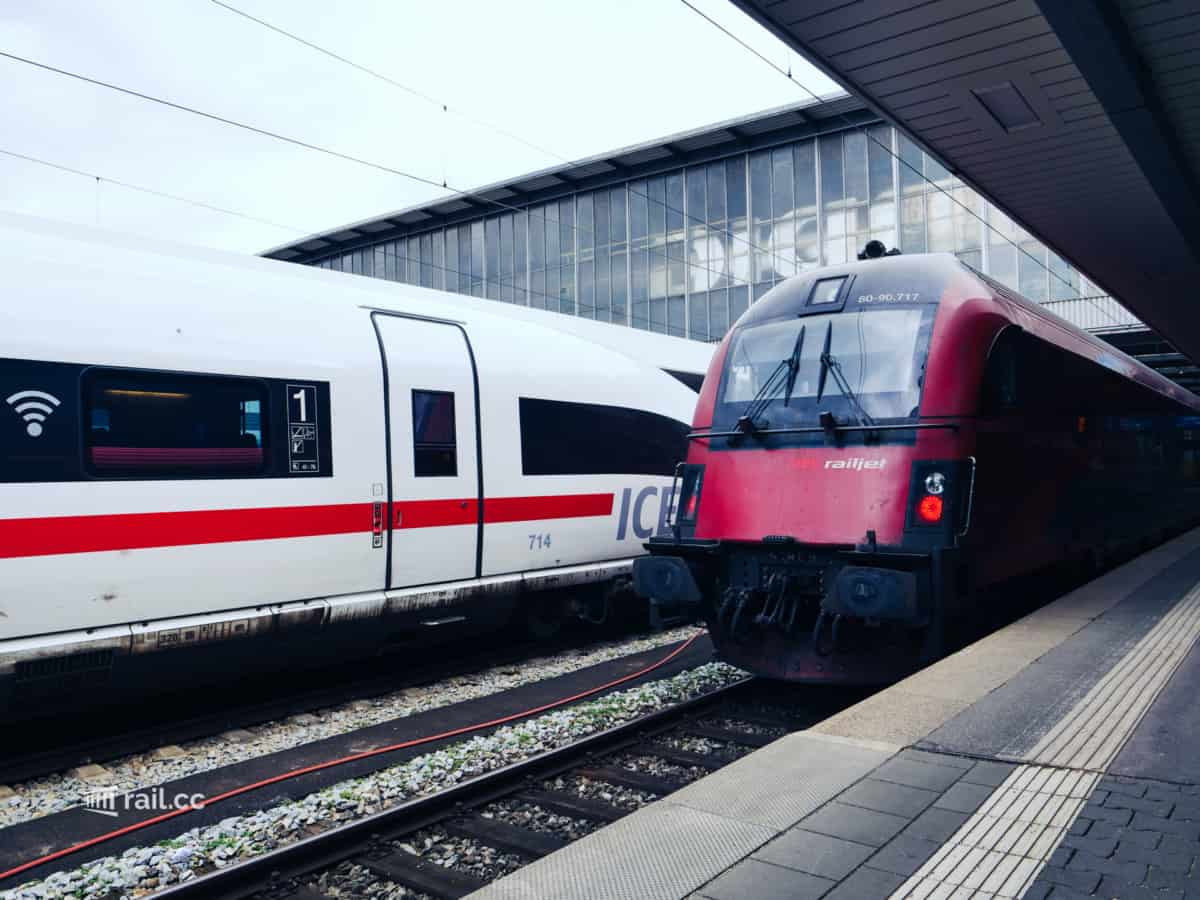 Railjet in Munich