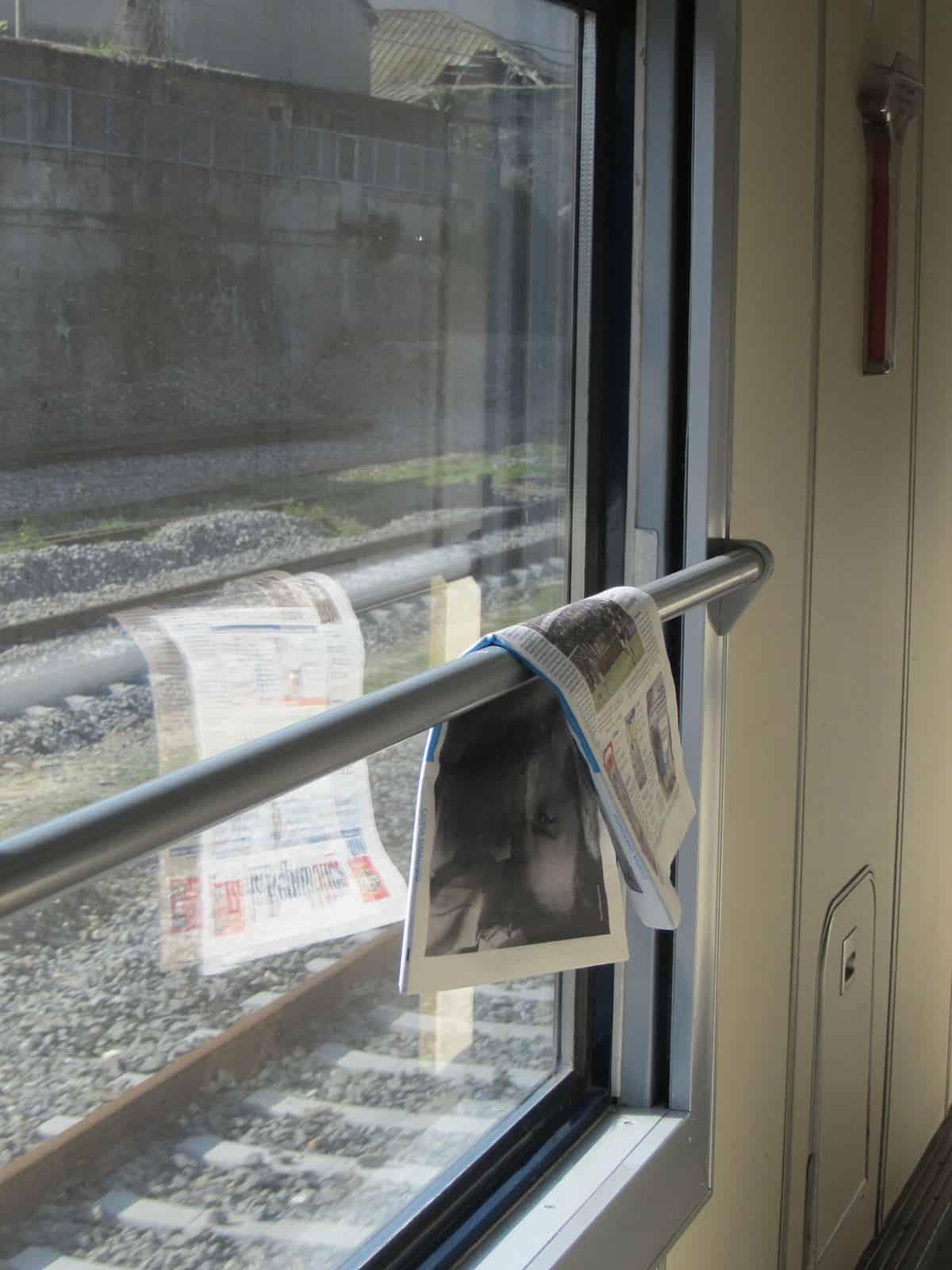 Schönes Detail in italienischen Nachtzügen: Zeitungen am Morgen