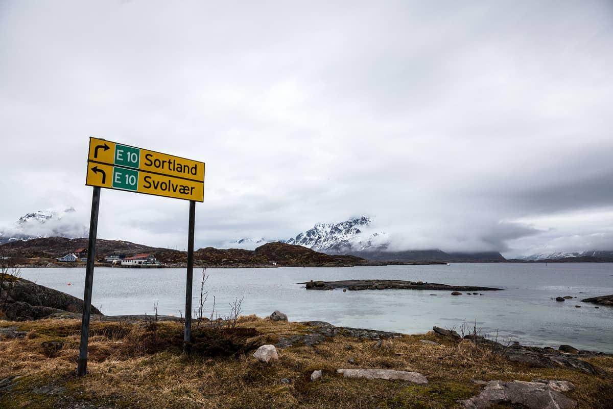 Unterwegs auf der E10 nach Svolvær.