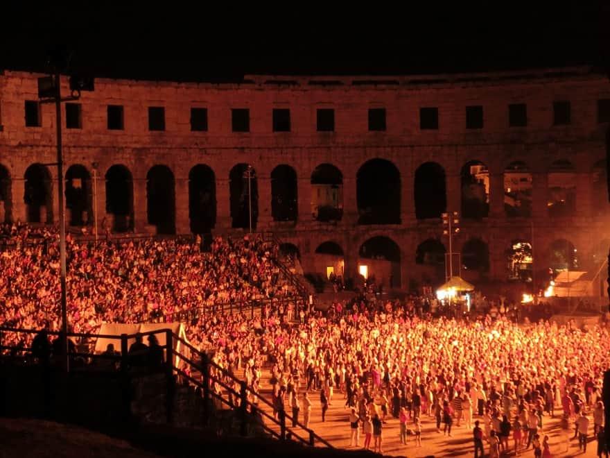Konzert in der Arena von Pula