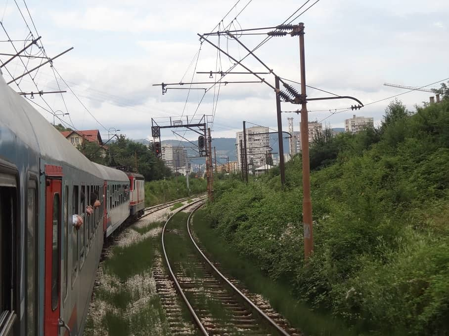 Einfahrt nach Sarajevo