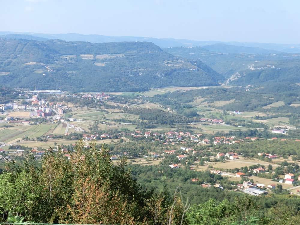 Landschaft an der Istrianerbahn