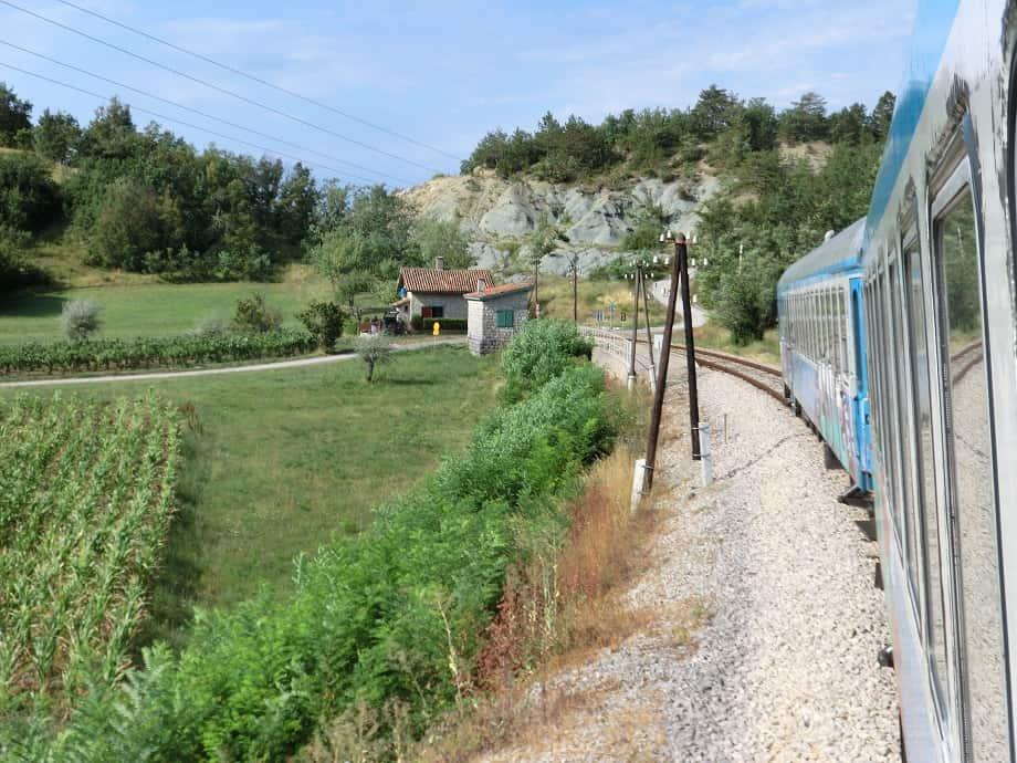 Istrianerbahn nach Pula in Hum