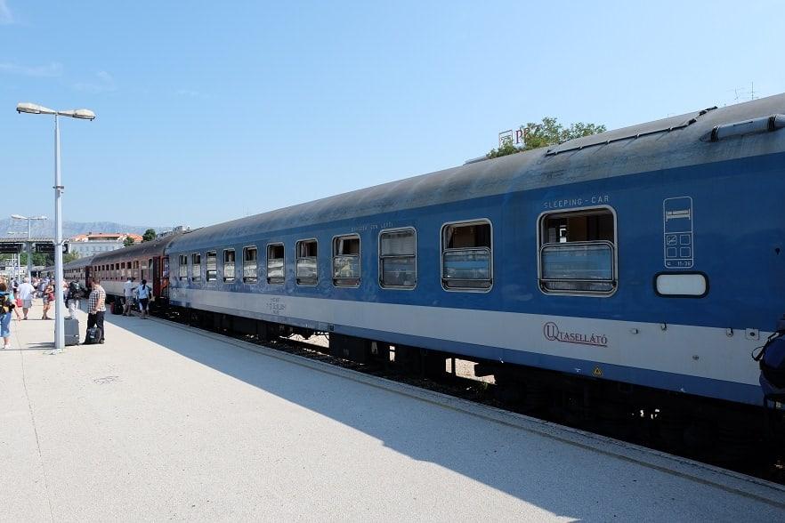 Schlafwagen aus Budapest in Split