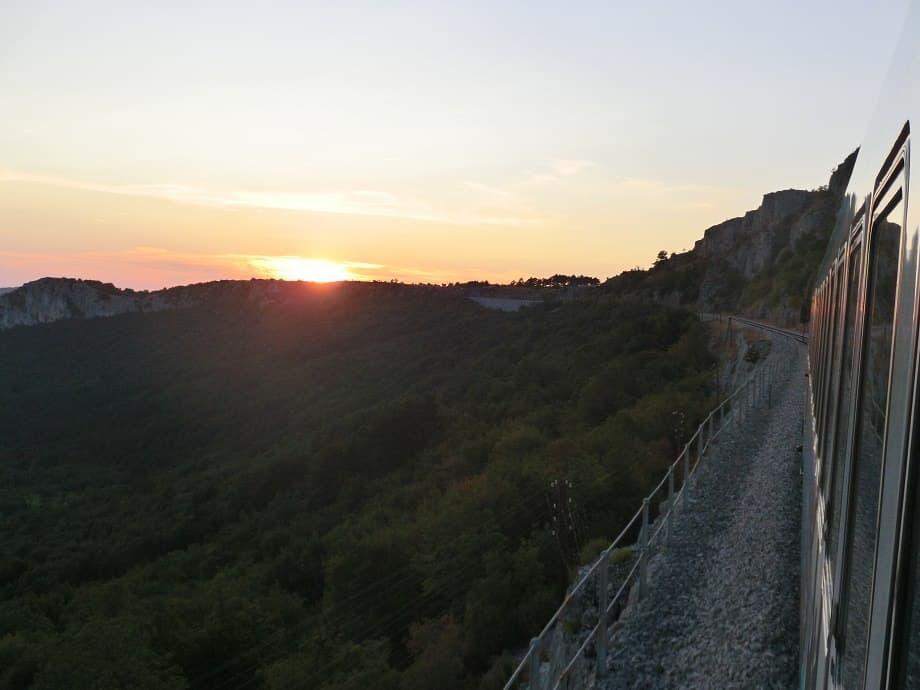 Sonnenuntergang auf der Istrianerbahn