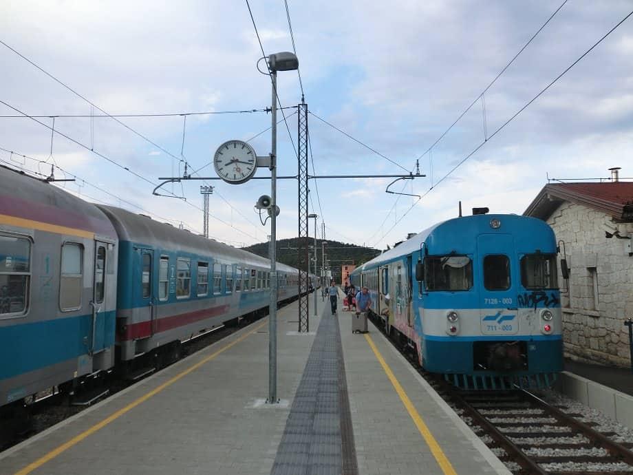 Umstieg in Hrpelje-Kozina nach Pula