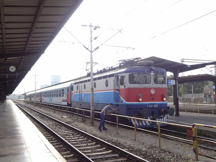Zug nach Sarajevo kurz vor der Abfahrt in Zagreb