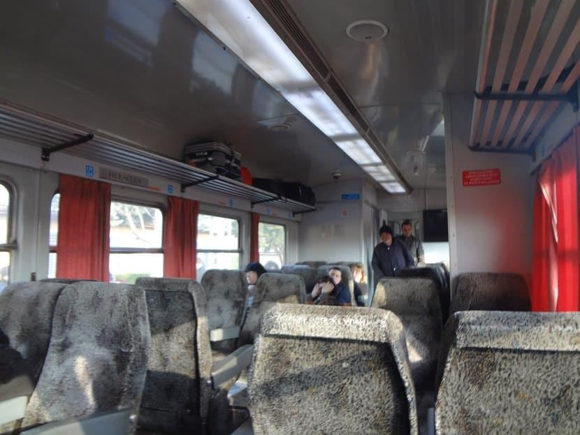 Im Zug Skopje-Bitola