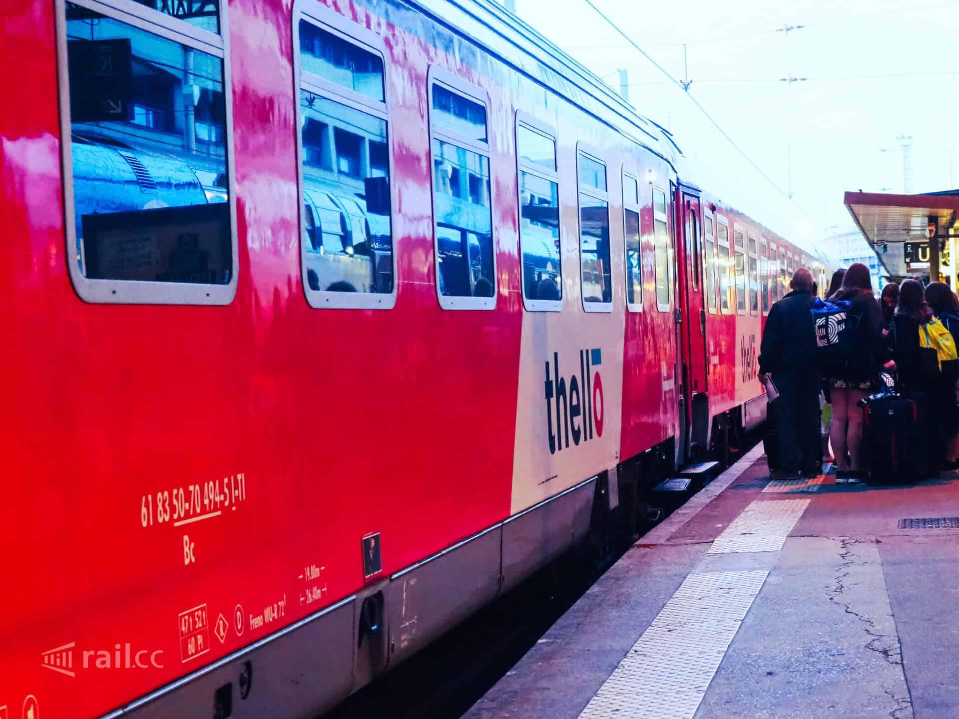 Der Thello Nachtzug von Paris nach Venedig kurz vor der Abfahrt im Gare de Lyon