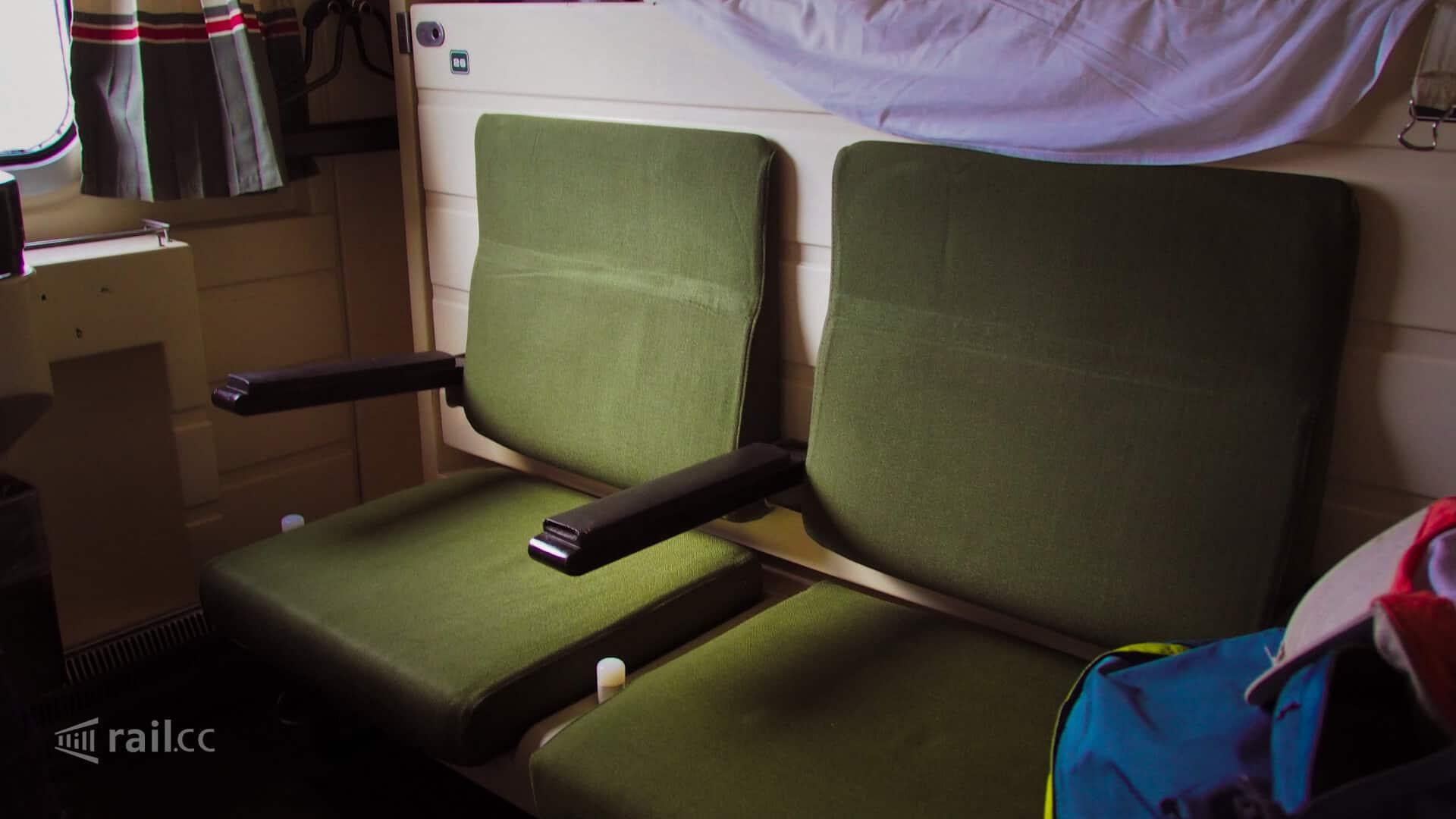 Tagstellung der Sitze im Schlafwagen