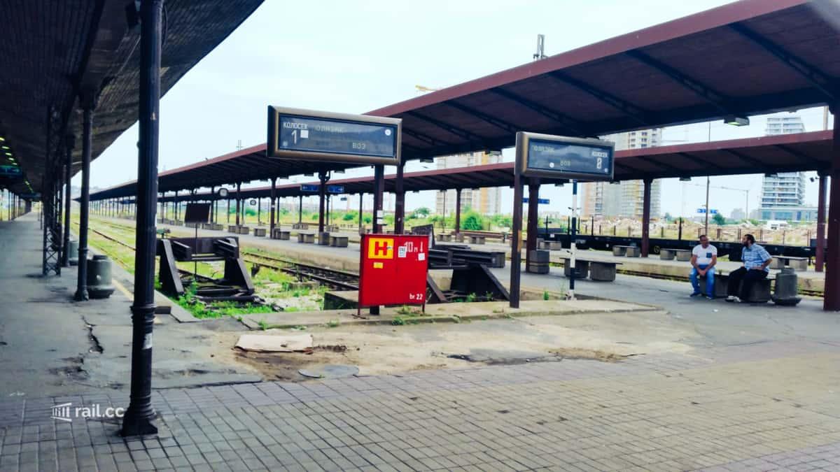 Der alte Bahnhof, nun fahren nicht einmal mehr Züge