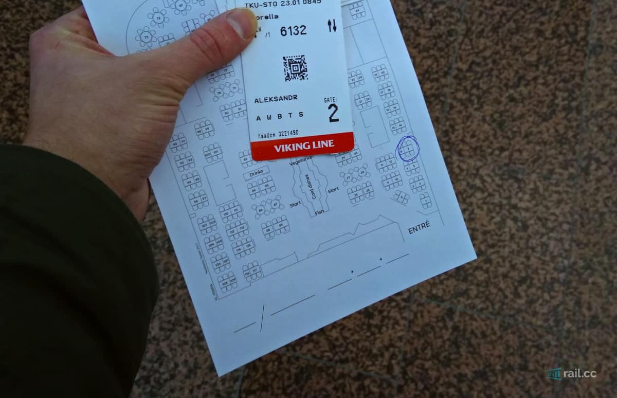 Boardingpass für die Fähre
