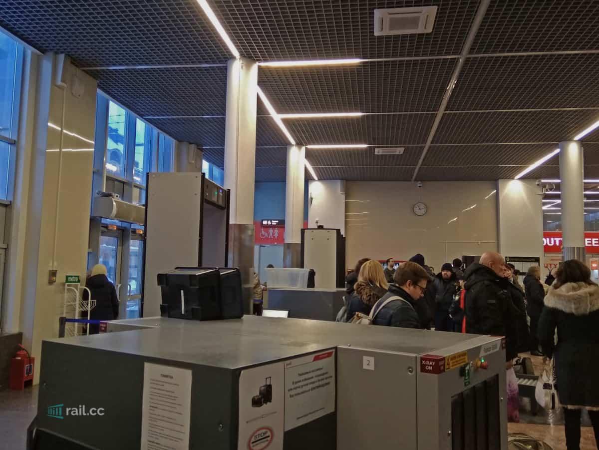 Express Abfahrtsbereich am Bahnhof Finlyandskiy