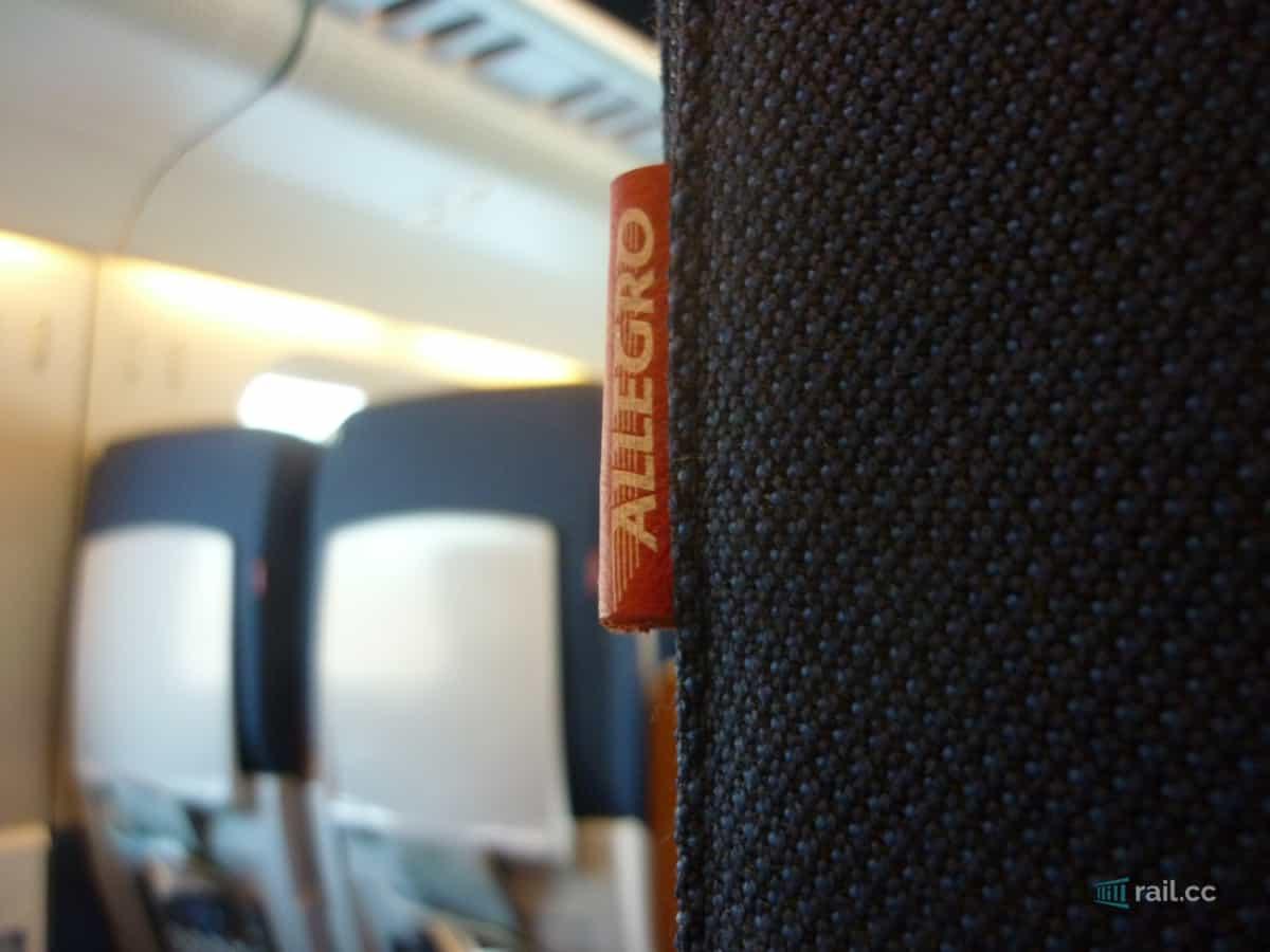 Sitzplatz im Allegro Zug