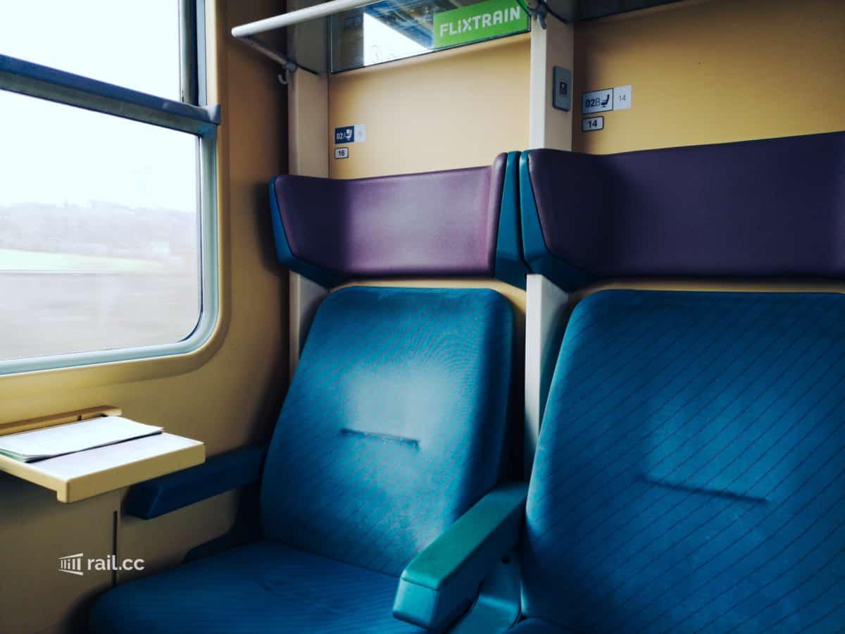 Flixtrain Sitzplätze