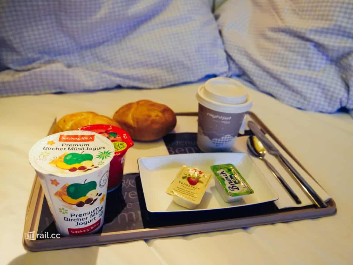 Frühstück im Nightjet