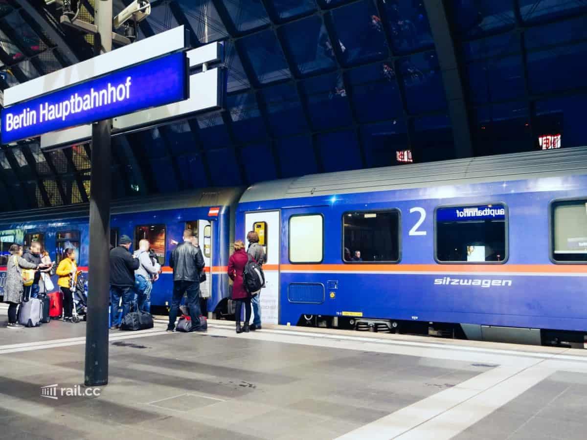 Nightjet von Berlin nach Wien