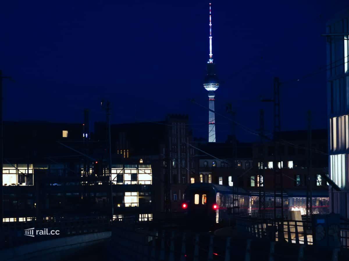 Abfahrt des Nachtzugs von Berlin nach Wien