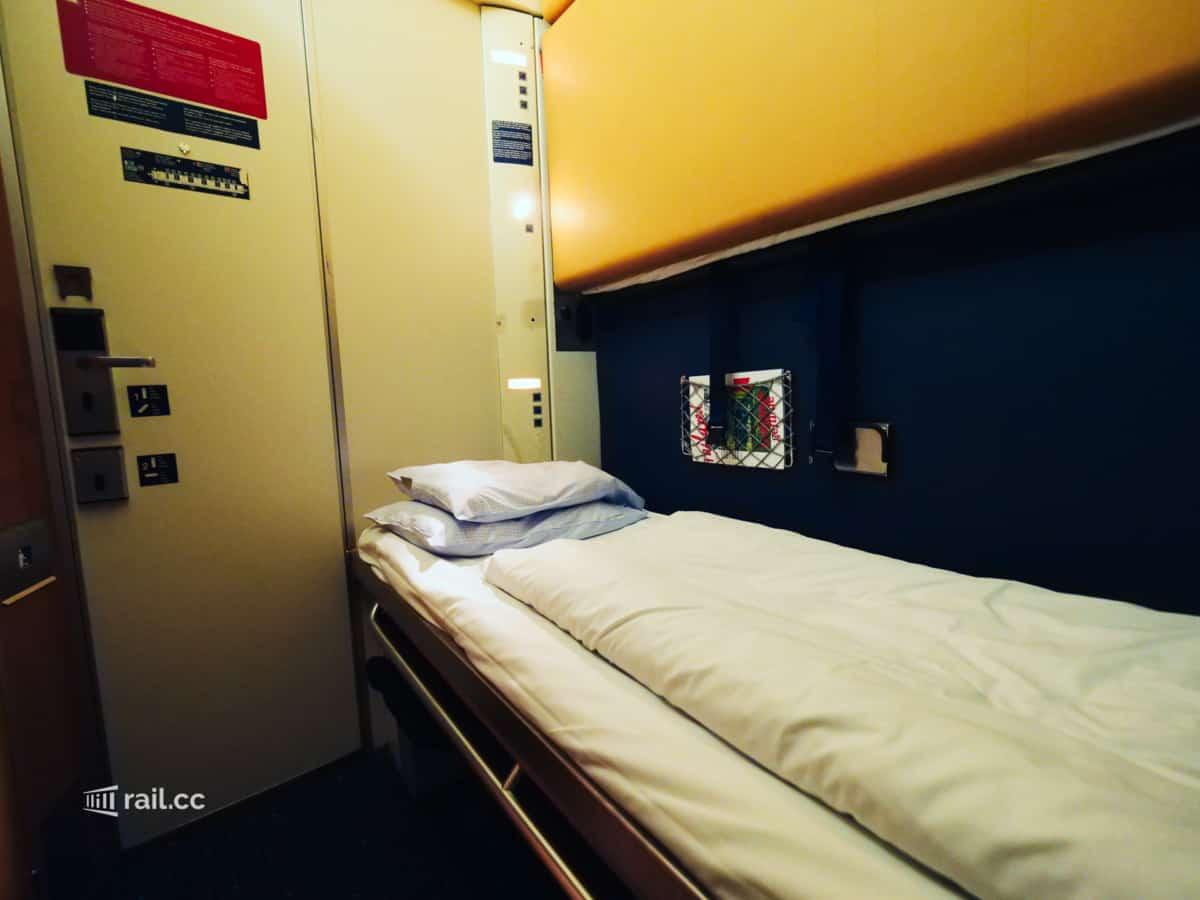 Nightjet Schlafwagen mit einem Bett