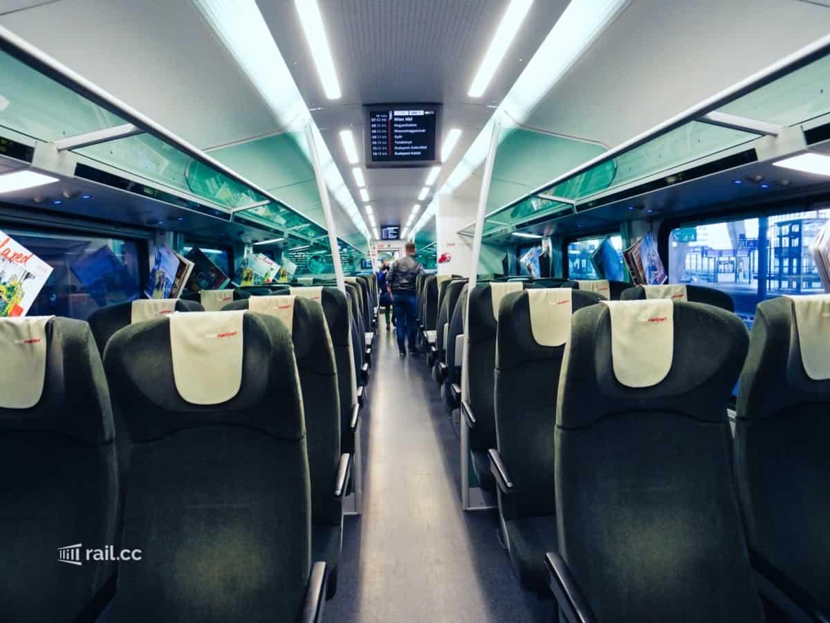 Sitzplätze Railjet Economy Class
