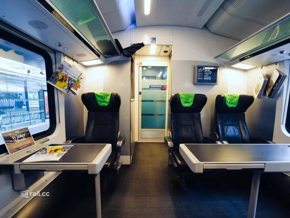 Ruhebereich im Railjet First Class