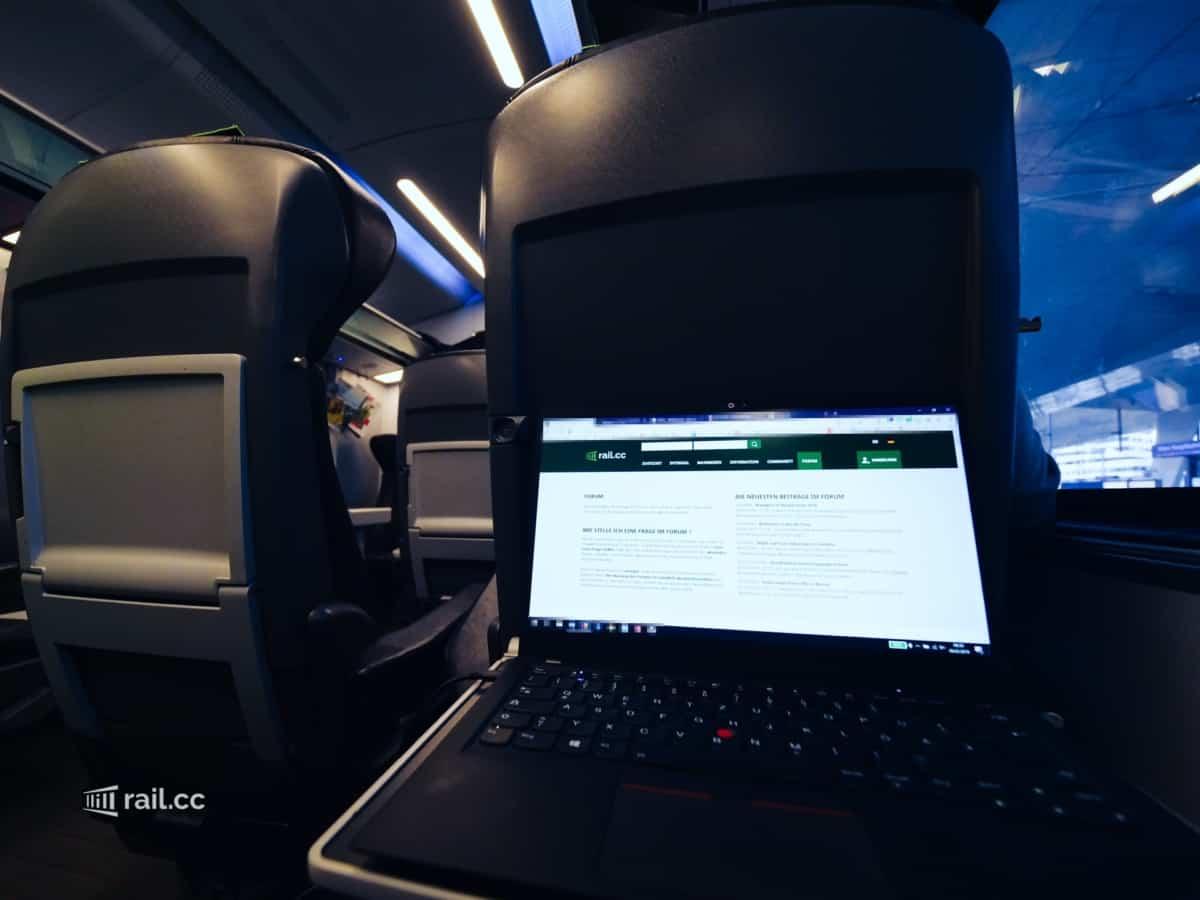 Kostenfreies Wifi Internet im Railjet