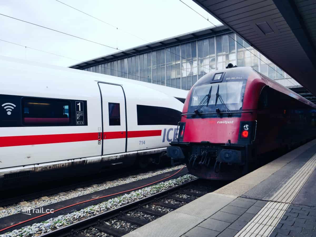 Railjet in München